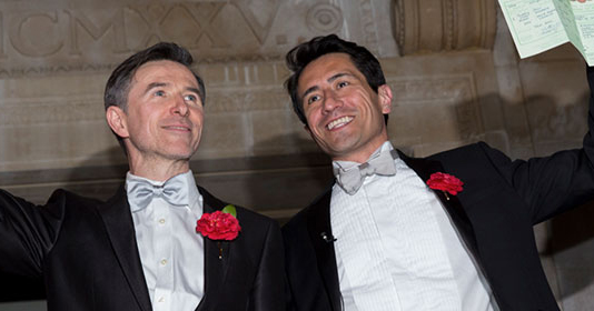 Two men getting married in the UK