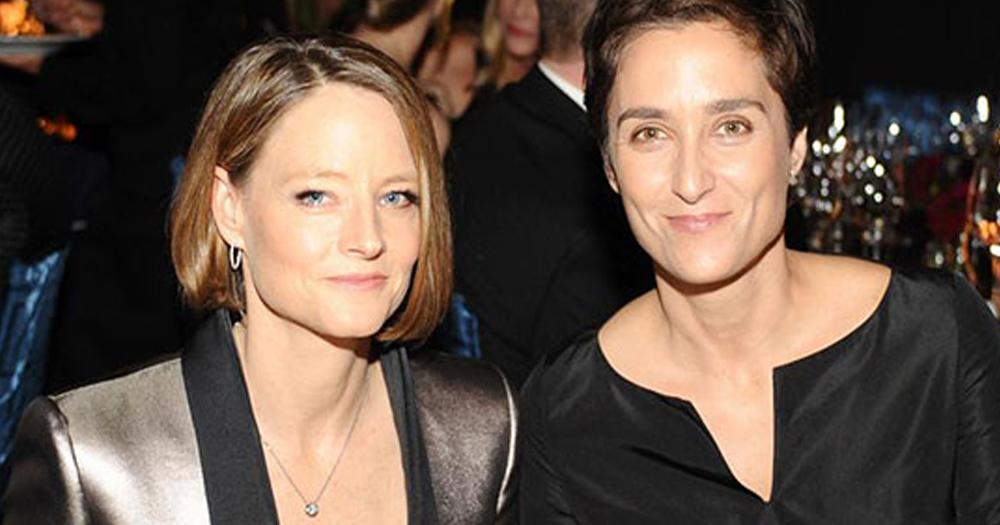 Jodie foster marries L word star, the actress pictured with her wife