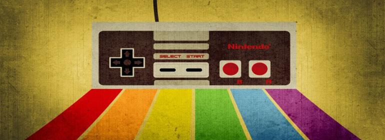 rainbow nintendo controller