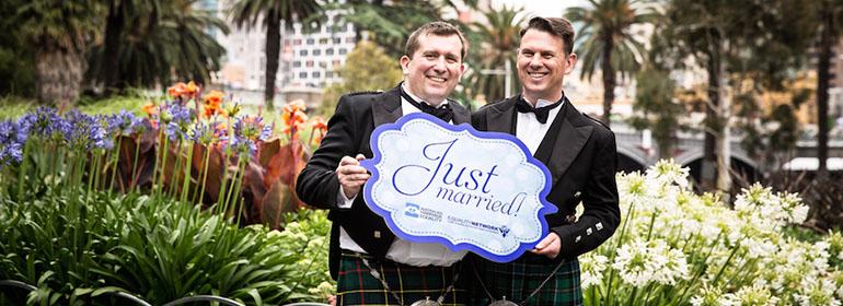 scottish couple marry
