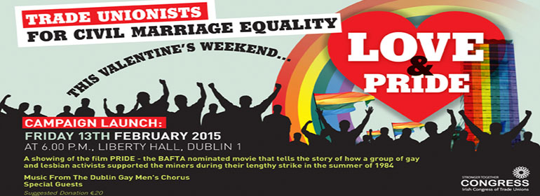 trade unionists marriage equality