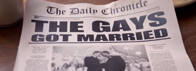 gays got married spoof