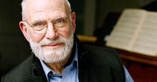 Close-up of author and neurologist Oliver Sacks looking at the camera