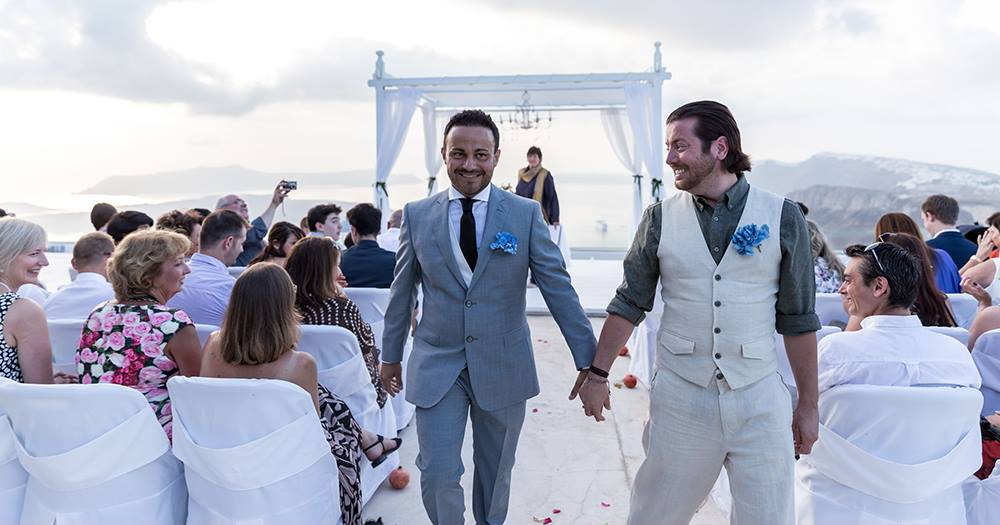 Two men getting married