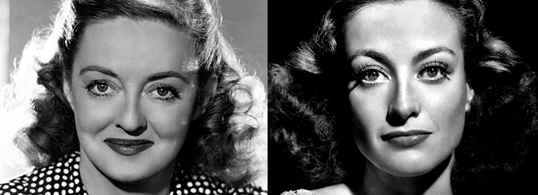 Bette Davis and Joan Crawford who will be played by Susan Sarandon and Jessica Lange in Ryan Murphy's Feuds Tv series
