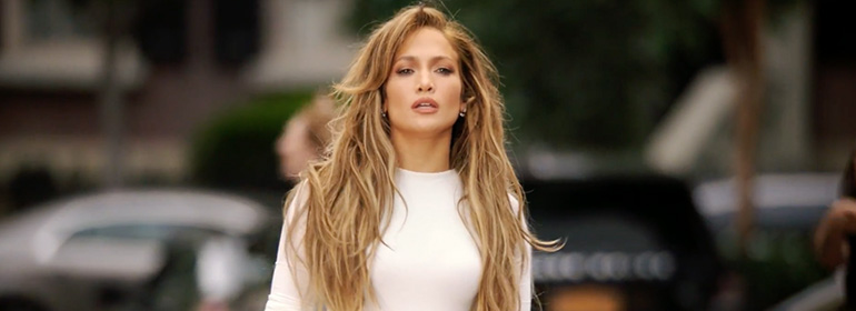 "jennifer lopez looking fierce in white jumpsuit for her new music video ""Ain't Your Mama"""
