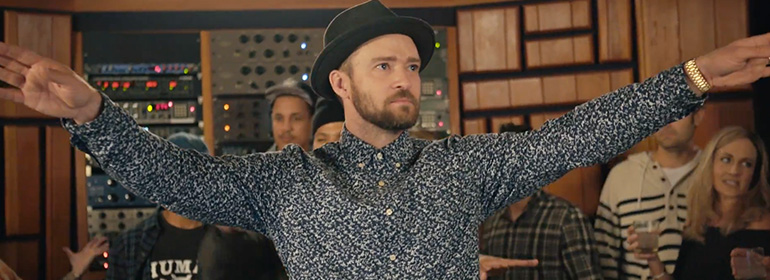 Justin timberlake recording his new summer jam can't stop the feeling!