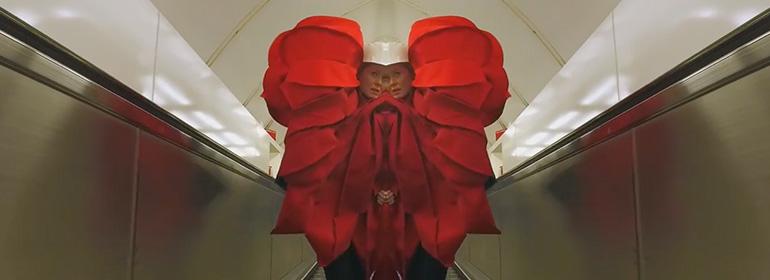Rosen Murphy New Music Video still, featuring kaleidoscope effect in London underground.