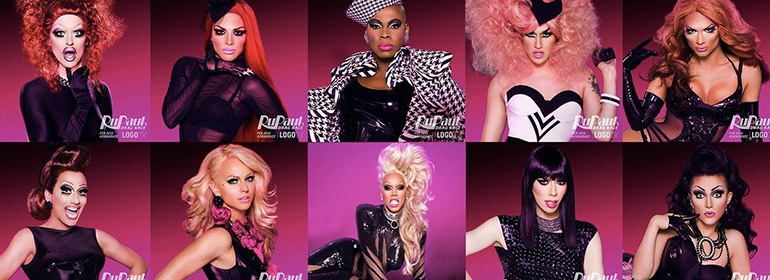 rupaul's drag race season 8 and previous drag queens around Ru