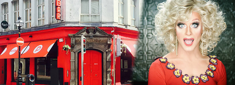 Panti Bliss on right, who received firebomb threats to Pantibar (on left)