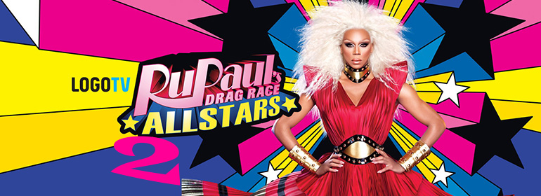 RuPaul with platinum blonde hair for RuPaul's Drag Race All Stars Season 2