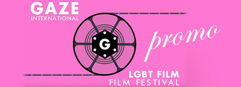 Gaze Film Festival 2016 Promo logo with film reel in the centre