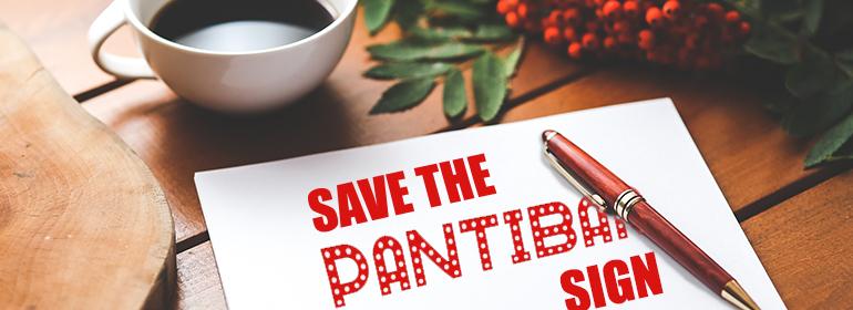 Save The Pantibar Sign petition