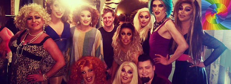 Drag queens in Dublin at the George's fundraiser for Orlando event