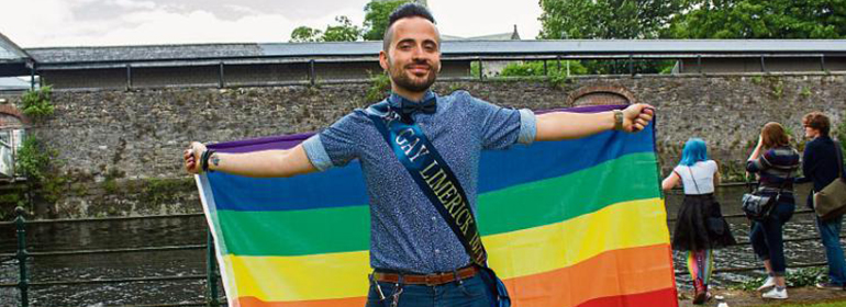mr gay Limerick calling for hate crime legislation