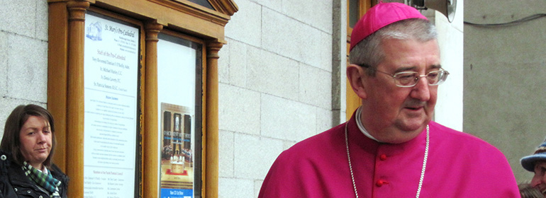 Archbishop Diarmaid Martin in a pink outfit