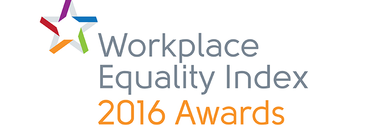 The GLEN Workplace Equality Index 2016 Awards logo is a star, and the awards are given to companies who value LGBT equality