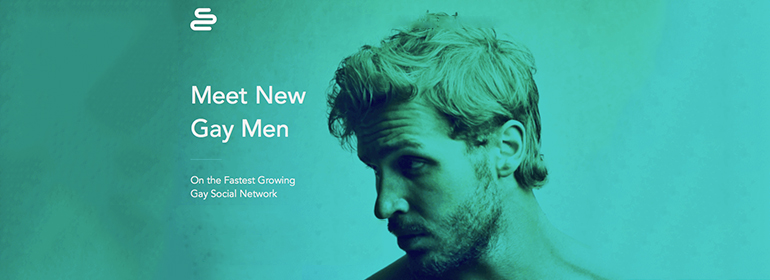 The surge homepage featuring a handsome blonde man covered in blue - surge is one of the best gay apps in Ireland for dating in 2016