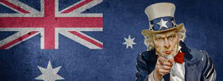 An australian flag with Uncle Sam pointing at you because you can make a difference by completing the new survey on the marriage referendum in this article