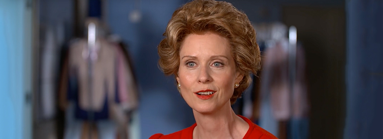 Cynthia Nixon as Nancy Reagan in today's Cuppán Gay global LGBT news roundup