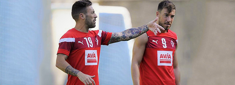 Two spanish football players who had a threesome are featured in today's Cuppán Gay