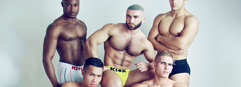 François Sagat and other models in Kick underwear
