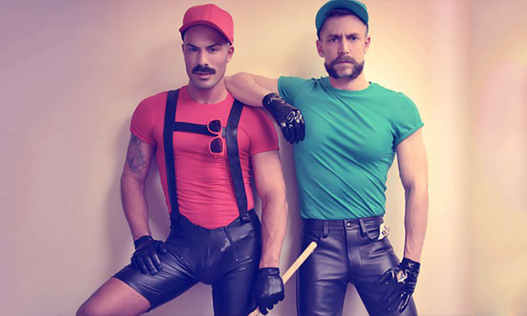 leather mario and luigi which are great halloween costumes for gay men