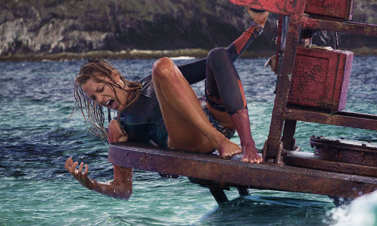 Blake Lively in The shallows as shark attack girl, a great Halloween costume for lesbians