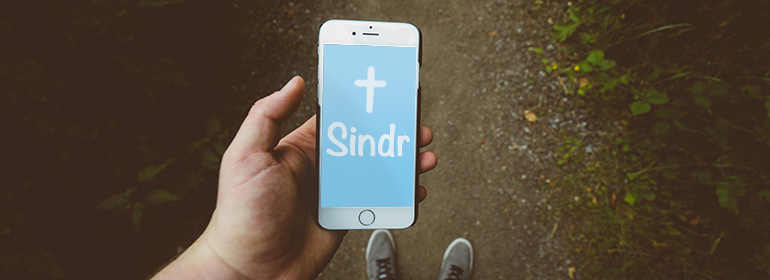 Sindr app on an iPhone which is part of today's Cuppán Gay
