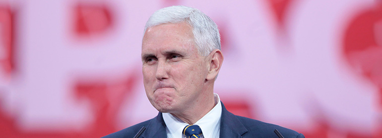 Mike pence scrunching his face up