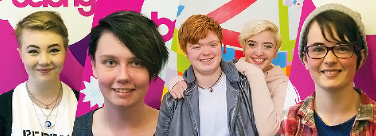 5 young Irish lgbt people's faces