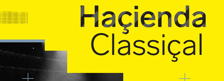 The poster for Haçienda Classical on a yellow background