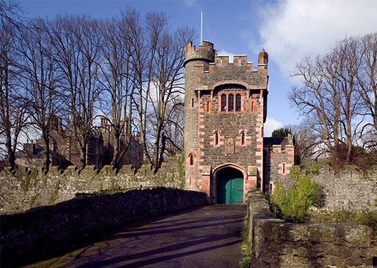 A castle with pink sandstone one of the Irish Landmark Trust venues - the same Irish Landmark Trust who has a Valentine's Giveaway
