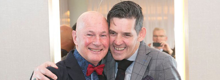 Fr Lynch on the left, the irish gay priest who married his gay partner, Billy Desmond on the right.