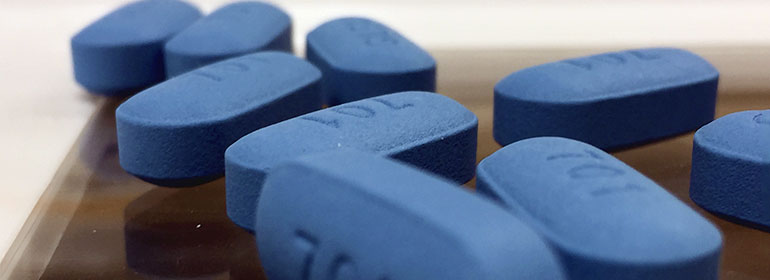 Blue pills of Truvada as in the Truvada Diaries article