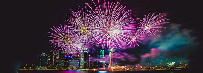 fireworks over a cityscape to symbolise sex, which gives trans people control over their own bodies.