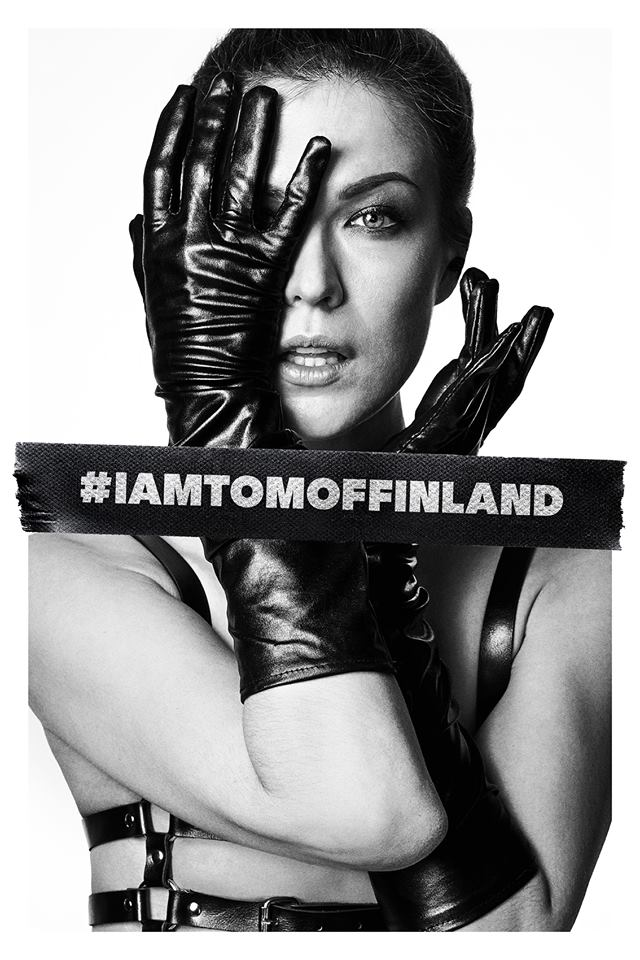 A woman wearing leather gloves for the film Tom of Finland, one of today's Cuppán Gay stories