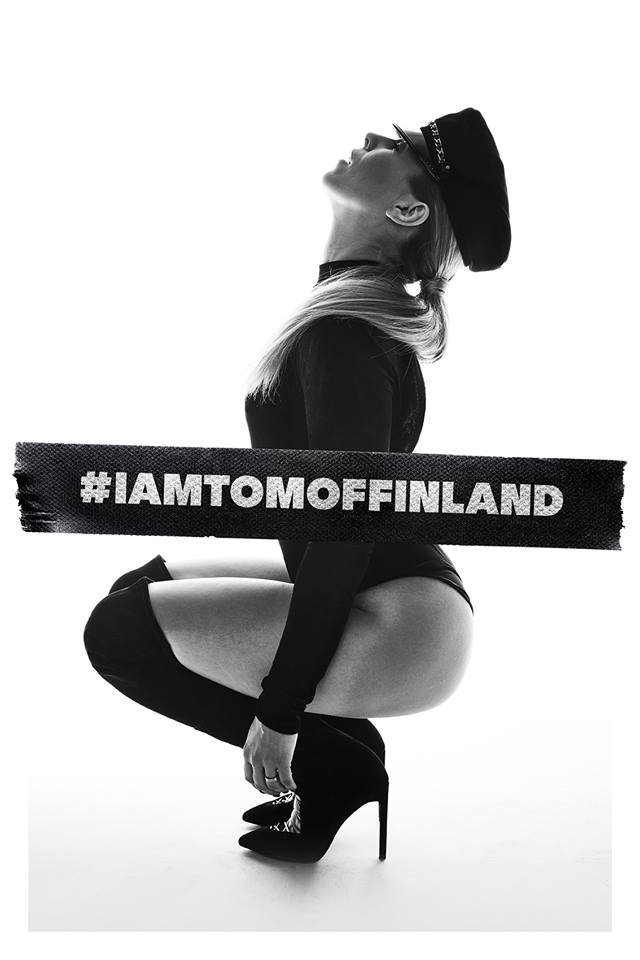 A woman in leather boots on her hunkers for the film Tom of Finland, one of today's Cuppán Gay stories