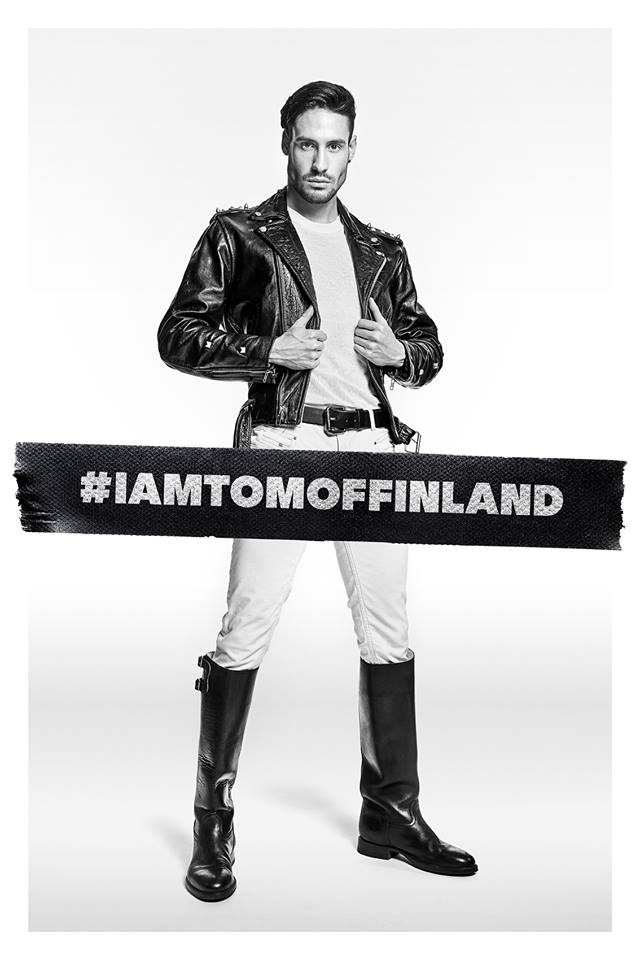 A man in leather jacket and boots for the film Tom of Finland, one of today's Cuppán Gay stories