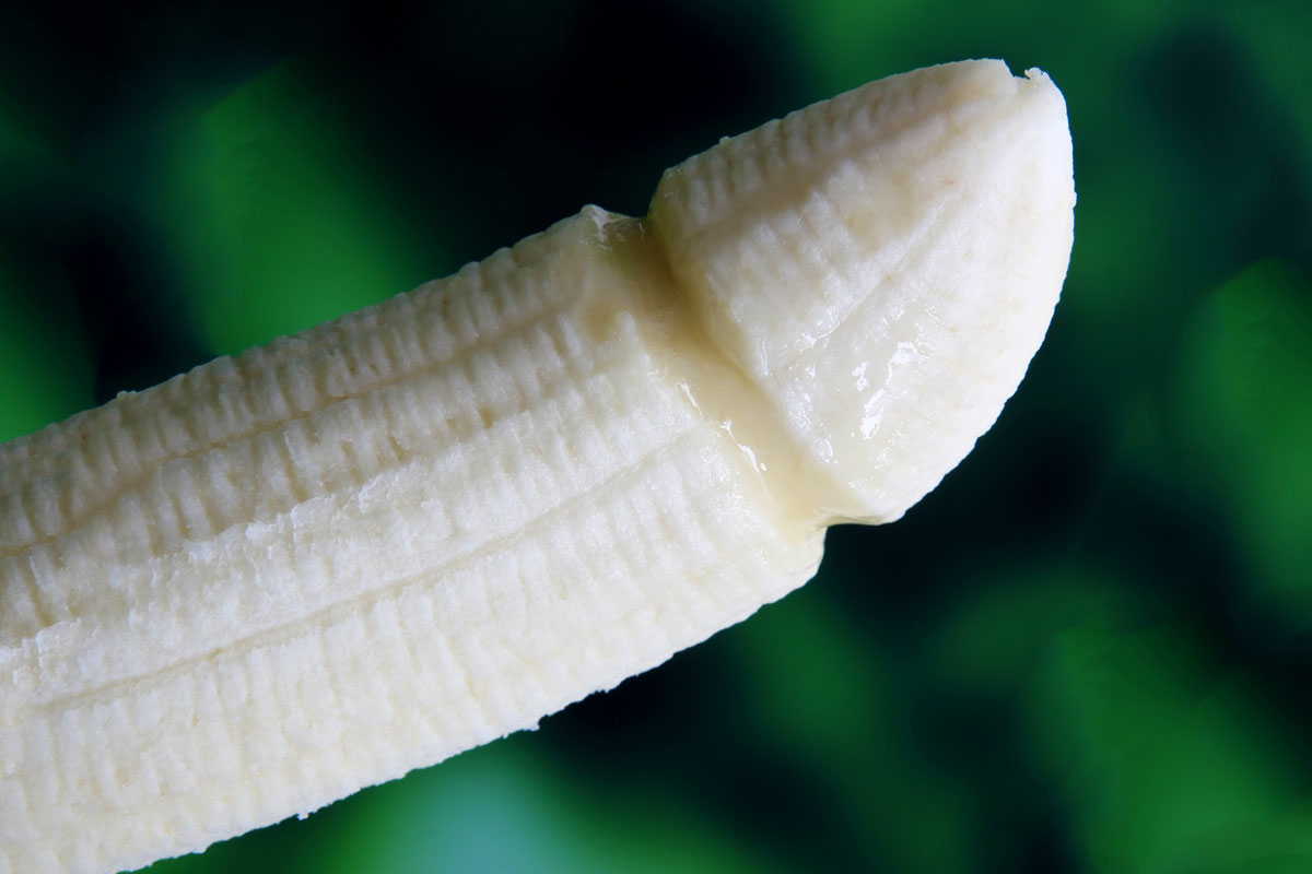 a picture of a phallic banana in the Truvada Diaries story to represent a penis