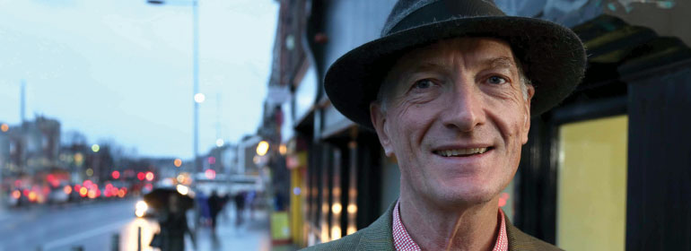 Judge Edwin Cameron in a trilby hat