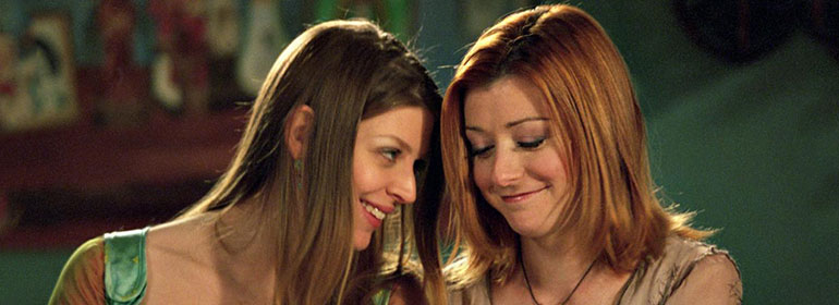 Willow and Tara from Buffy which is one of the stories in today's Cuppán Gay