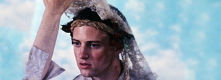 A man in a veil from the film Poison