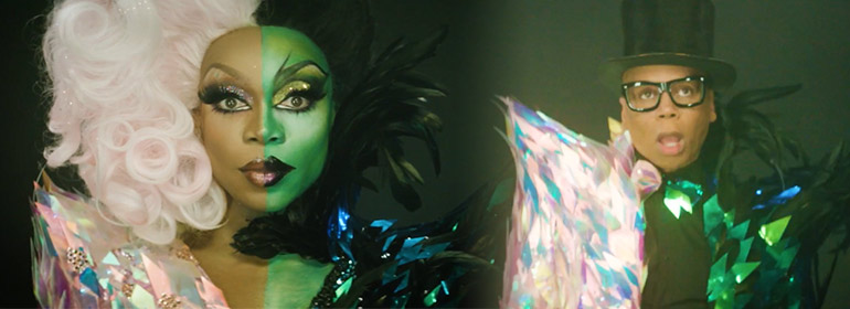 Todrick Hall and RuPaul in wizard of oz attire for the video Low from today's Cuppán Gay