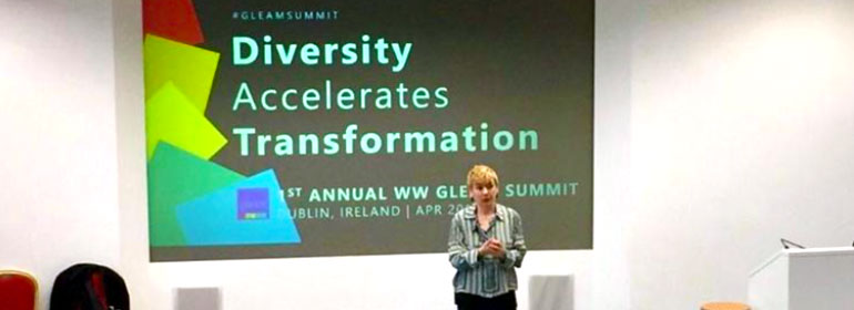 Aine Duggan at the GLEAM Diversity Summit