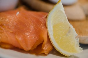 Salmon and lemon from Two Boys Brew café
