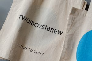 Tote bag from Two Boys Brew café