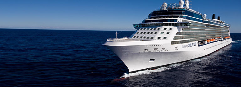An LGBT-friendly Celebrity Cruises cruise ship on the ocean