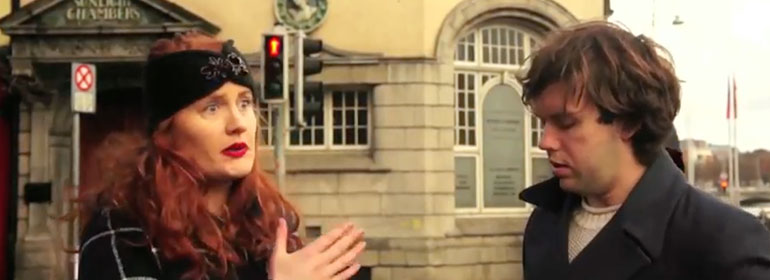 Valerie Ni Loinsigh and Eoghan McQuinn in the first episode of Notions web series