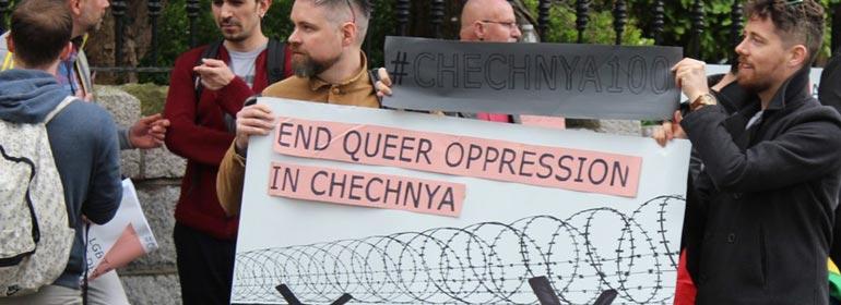 Chechnya Protest Dublin